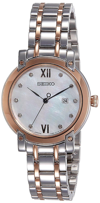 Seiko SXDG84P1 Analog Mother Of Pearl Dial Women's Watch (SXDG84P1)