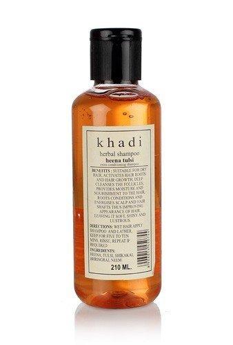 Khadi Pure Herbal Henna Tulsi Shampoo 210ml