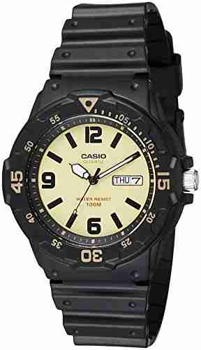 Casio Youth MRW-200H-5BVDF (A1185) Analog Yellow Dial Men's Watch (MRW-200H-5BVDF (A1185))