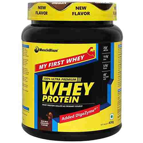 MuscleBlaze My First Whey Rich Milk (0.88lbs, Chocolate)