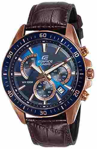 Casio Edifice EFR-552GL-2AVUDF (EX358) Analog Blue Dial Men's Watch (EFR-552GL-2AVUDF (EX358))