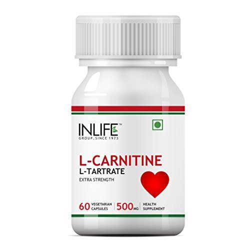 Inlife L-Carnitine L-Tartarate 500mg Supplement (60 Capsules)