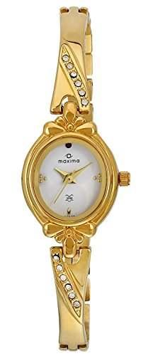 Maxima 29376BMLY Analog White Dial Women's Watch (29376BMLY)