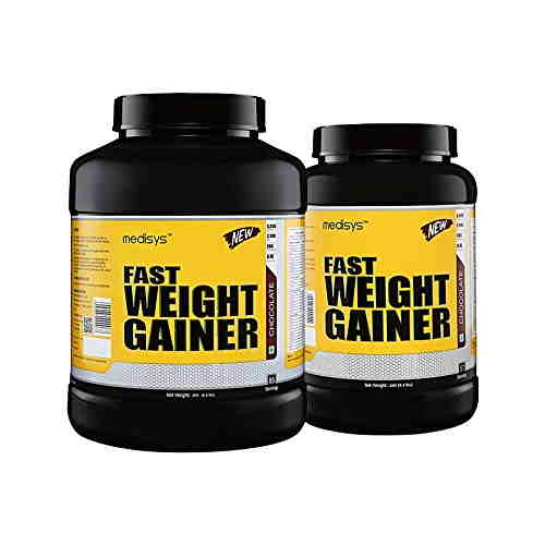Medisys Combo Of Fast Weight Gainer (3Kg + 2Kg, Chocolate)