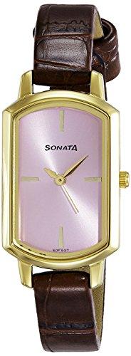 Sonata NK8139YL03 Elite Pink Dial Analog Women's Watch (NK8139YL03)