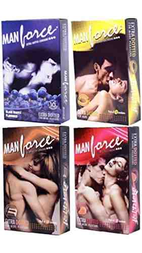 Manforce Banana Strawberry Choclate and Black Grape Condoms (40 Condoms)