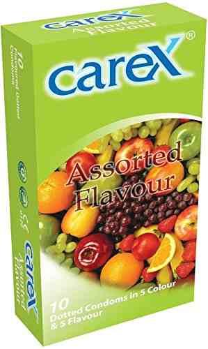 Carex Assorted Flavour Condoms (10 Condoms)