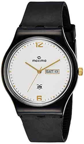 Maxima 39337PPGW Analog White Dial Men's Watch (39337PPGW)