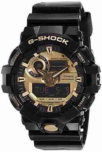 Casio G-Shock GA-710GB-1ADR (G740) Analog Digital Gold Dial Men's Watch (GA-710GB-1ADR (G740))