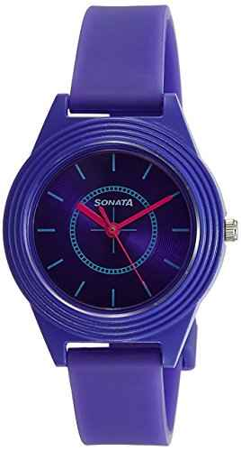 Sonata 87024PP01 Color Pop Analog Purple Dial Girls Watch (87024PP01)