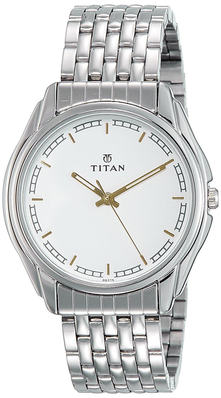 Titan Karishma 1578SM05 Analog White Dial Men's Watch (1578SM05)