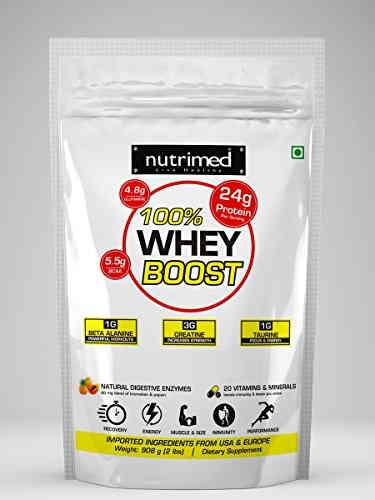 Nutrimed 100% Whey Boost (908gm, Butterscotch)