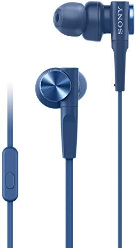 Sony MDR-XB55AP In The Ear Earphones, Blue
