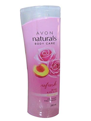 Avon Naturals Rose & Peach Whitening Shower Gel, 200 ML