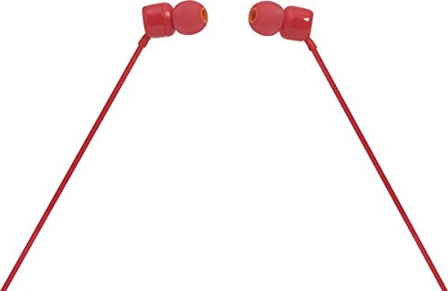 JBL T110 Wired In-Ear Headphones, Red