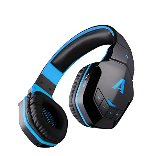 Boat Rockerz 510 Extra Bass Over the Ear Bluetooth Headphones, Blue & Black