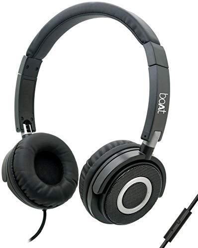 Boat BassHeads 900 Wired Headphones, Black