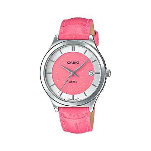 Casio Enticer A1235 (LTP-E141L-4A2VDF) Analog Red Dial Women's Watch (A1235 (LTP-E141L-4A2VDF))