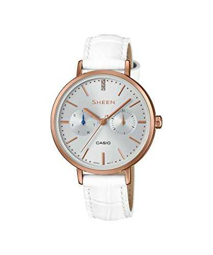 Casio SHE-3054PGL-7AUDR (SX197) Analog Silver Dial Women's Watch (SHE-3054PGL-7AUDR (SX197))