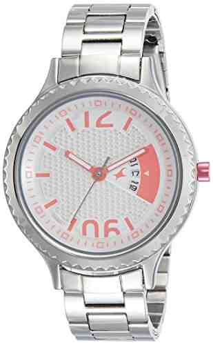 Fastrack 6168SM02 Loopholes Analog Silver Dial Women's Watch (6168SM02)