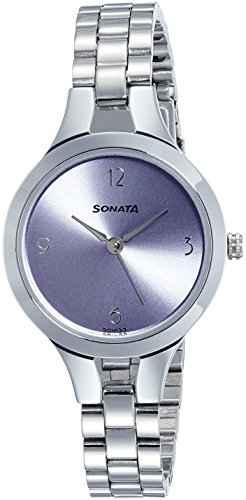 Sonata 8151SM02 Steel Daisies Analog Purple Dial Women's Watch (8151SM02)