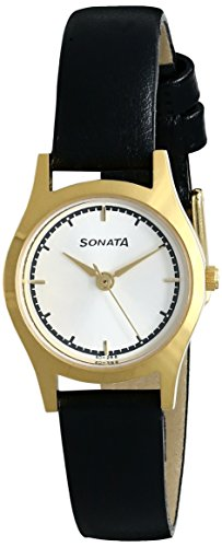 Sonata 87025YL02 Essentials Silver Dial Analog Women's Watch (87025YL02)