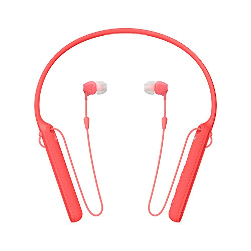 Sony WI-C400 Wireless Behind Neck in Ear Headphone, Red