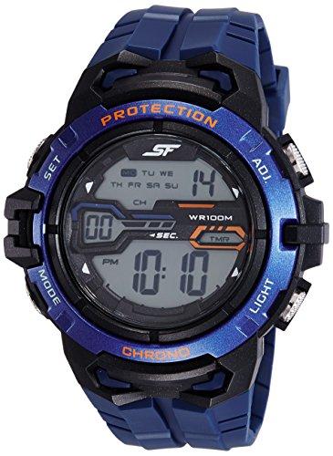 Sonata 77076PP01 Fibre grey Dial Digital Men's Watch (77076PP01)