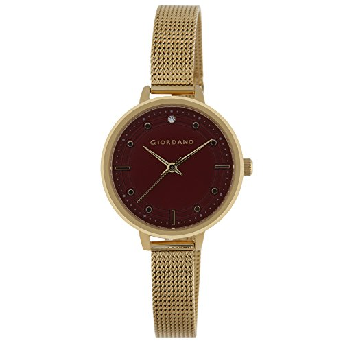 Giordano 2872-33 Red Dial Analog Women's Watch (2872-33)