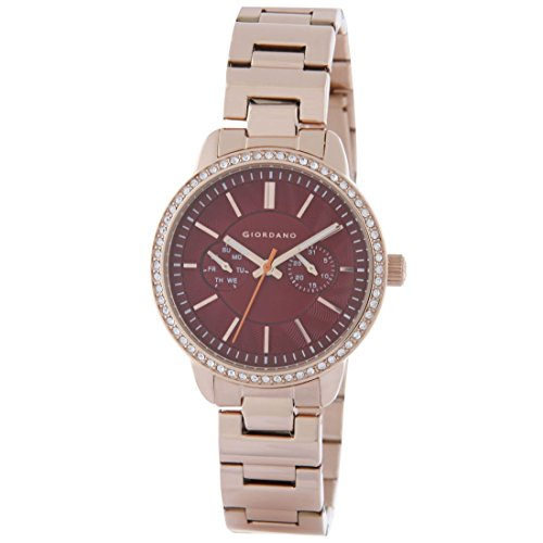 Giordano 2881-55 Red Dial Analog Women's Watch (2881-55)