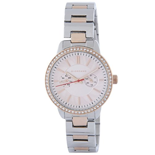 Giordano 2881-66 Silver Dial Analog Women's Watch (2881-66)