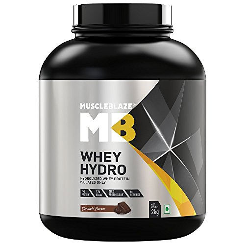 MuscleBlaze Whey Hydro Whey Protein (2Kg, Chocolate)