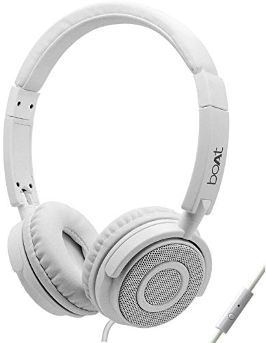 Boat BassHeads 900 Wired Headphones, White