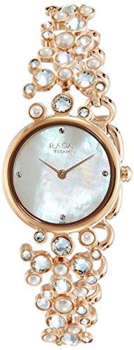 Titan Raga NK95032WM01 Moonlight Analog Women's Watch (NK95032WM01)