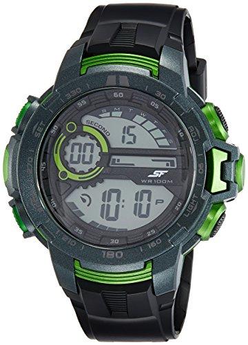Sonata 77074PP01 Fibre Grey Dial Digital Men's Watch (77074PP01)