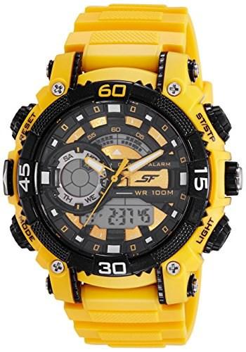 Sonata 77070PP05 Fibre Analog & Digital Men's Watch (77070PP05)