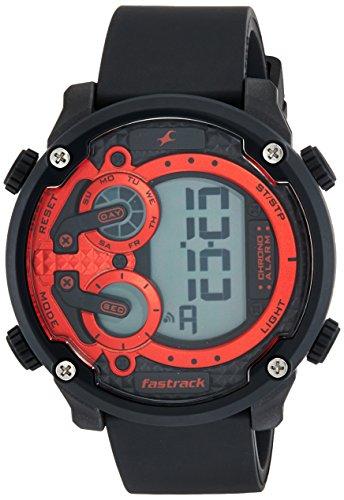 Fastrack 38045PP01 Trendies Red Dial Digital Men's Watch (38045PP01)