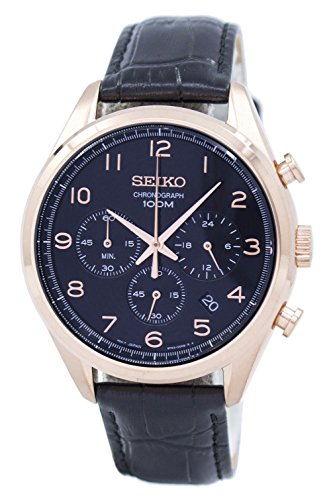 Seiko SSB296P1 Black Multifunction Analogue Men's Watch (SSB296P1)