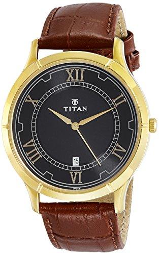 Titan Karishma 1775YL01 Black Dial Analog Men's Watch (1775YL01)