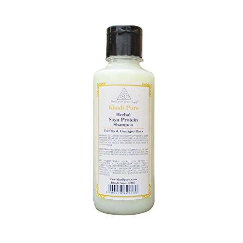 Khadi Pure Herbal Soya Protein Shampoo, 210 ML