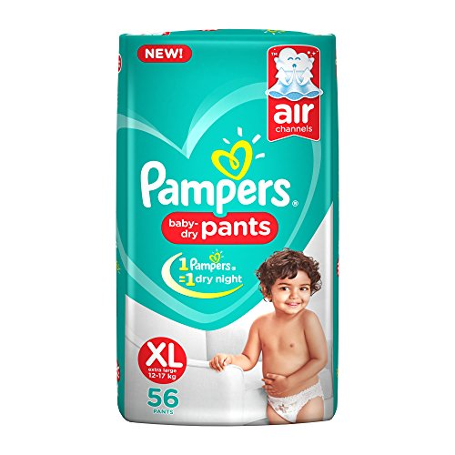 Pampers Pants Air Channels XL Diaper (56 Pieces)
