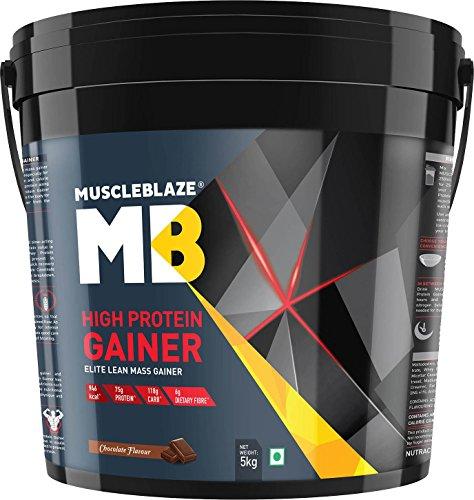 MuscleBlaze High Protein Lean Mass Gainer, 5 KG/11 LB Chocolate