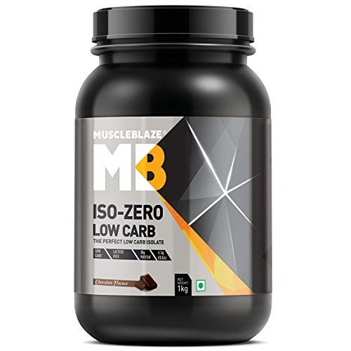 MuscleBlaze Iso Zero Low Carb, 1 KG/2.2 LB Chocolate