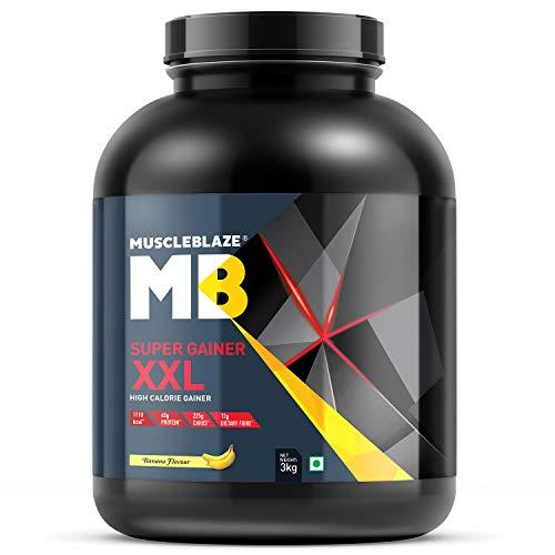 MuscleBlaze Super Gainer XXL, 3KG/6.6 LB Banana