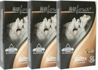 Manforce Coffee Extra Dotted Condoms (30 Condoms)