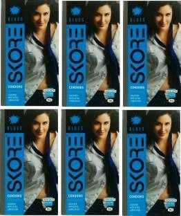 Skore Blue Condoms (60 Condoms)