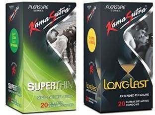 Kamasutra Superthin & Longlast Condoms (20 Condoms) - Pack of 2