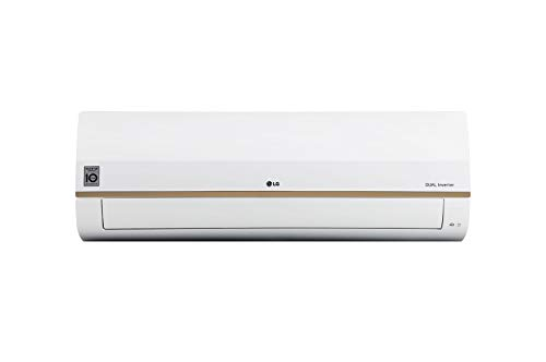 LG 1.5 TR 4 Star Convertible 4-in-1 Cooling, Copper ThinQ Wi-Fi, Voice Control Inverter Split AC (White)