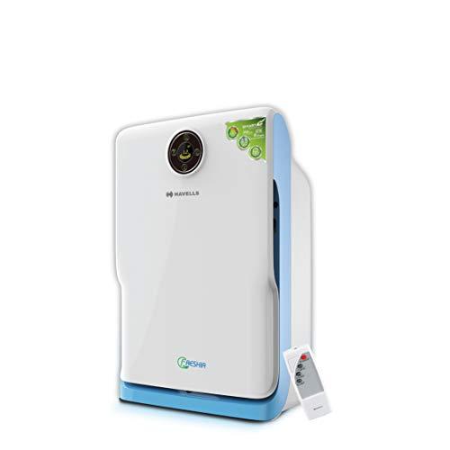 Havells Freshia AP-20 Air Purifier with Remote (White/Blue)