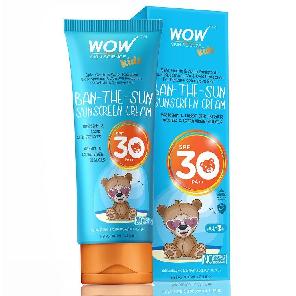 Wow Kids Ban-The-Sun Sunscreen Cream SPF 30 Pa++